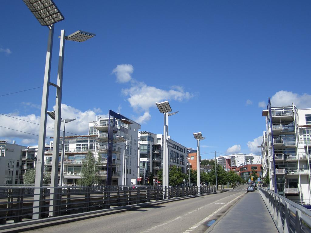 A napelemes közvilágítás modern jellege