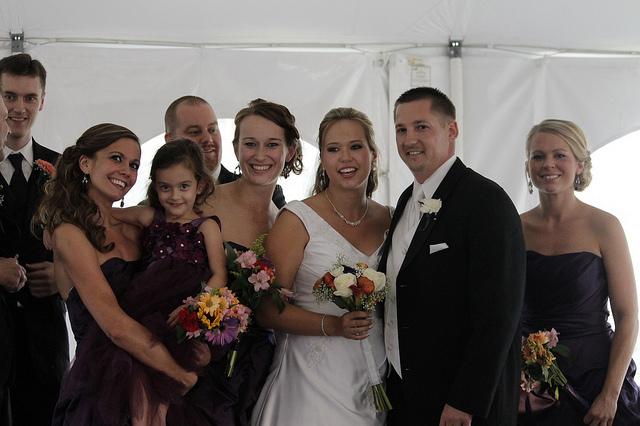 Az esküvői ruha mindenkit elkápráztat